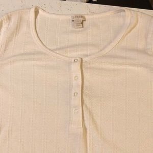 J. Crew Tops - 2for1 long sleeved Henley style sz M&L